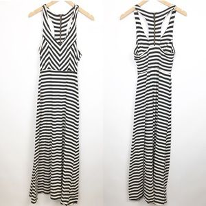 Urban Outfitters | Monteau Stripe Maxi Dress B&W